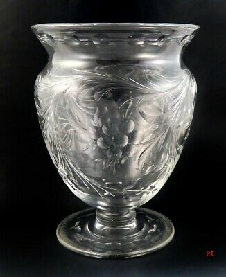Antique Early 1900s American Brilliant Period Cut Glass Vase