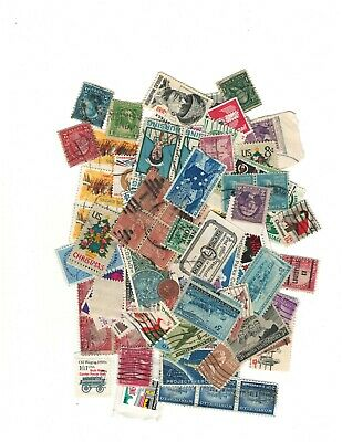 100 Assorted Used US Postage Stamps
