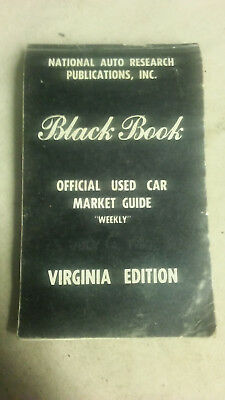 Vintage National Auto Research Black Book Pricing Guide Virginia Edition