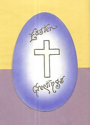Rare EGG-SHAPED Vintage 1909 EASTER Postcard SENT THROUGH THE MAIL