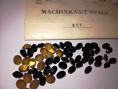 schwarze Strasssteine Glitzersteine Optima Machine Cut OVALS Jet 10x8 mm #612