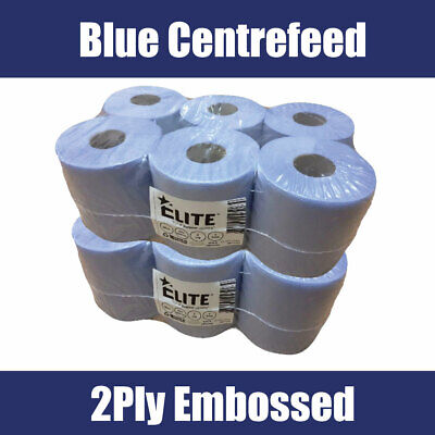BLUE ROLL 2Ply centrefeed rolls, paper hand towels, absorbant * *Various qty **