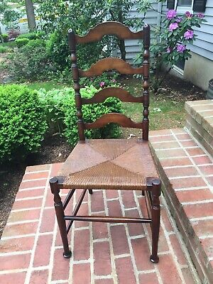 Vintage Karpen Colonial Ladderback Chair