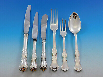 Prince Albert CG Hallberg Swedish 830 Silver Flatware Set Service Fitted Boxes