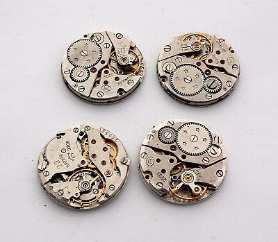 lot 4 engrenage mécanisme de montre mouvement ancien 22mm steampunk engrenage