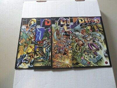 """1996 Defcon 4 (Image) COMPLETE SET of 4 """"Comic Books"""" (1-2-3-4) MAT BROOME"""
