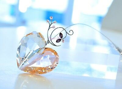 Swarovski 2007 Annual Edition Heart Ornament Peach 886104 Brand New In Box