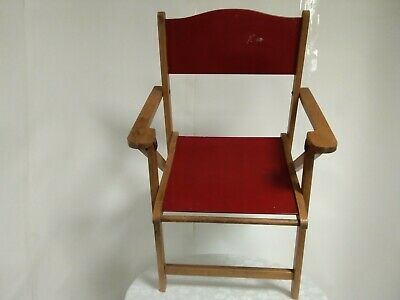 Vintage Childs wooden folding chair