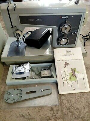 Vintage KENMORE SEARS 1430 ZIG ZAG Sewing Machine w/ Manual, Cover; Parts WORKS