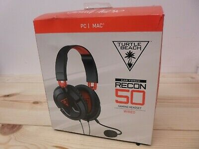 Turtle Beach Ear Force Recon 50 Stereo Gaming Headset Over Ear Headphones for PC