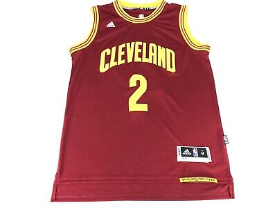 Kyrie Irving Cleveland Cavaliers Men's Size M Jersey Wine Gold NBA Adidas