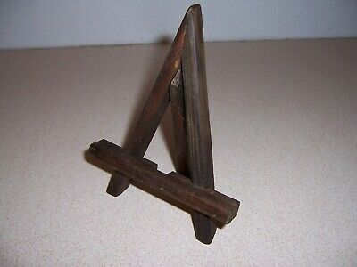 Antique Arts & Crafts Mission Style A-Frame Mini Picture Easel