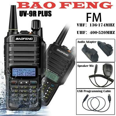 Baofeng UV-9R Plus Walkie Talkie VHF UHF Dual Band Two Way Radio Earpiece MIC
