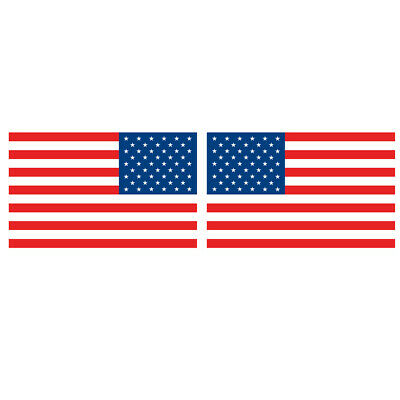 """2x American Flag 5in stickers-Pair of decals 5"""" military USA US VINYL 12*7.4cm"""