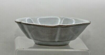 Lovely Antique Chinese Guan Yao 官窑 Crackle Drip Glaze Clover Shape Bowl