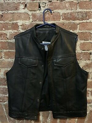 Fox Creek Leather Motorcycle Vest