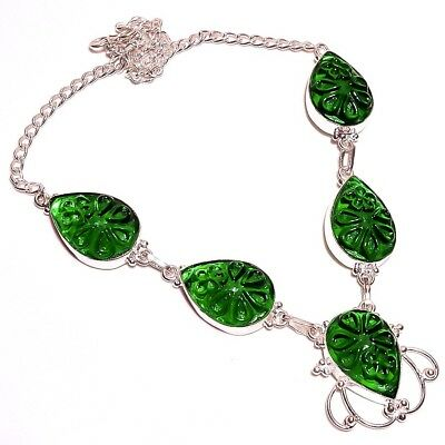 Green Chalcedony .925 Silver Carving Charming Necklaces Jewelry R2121-R2143