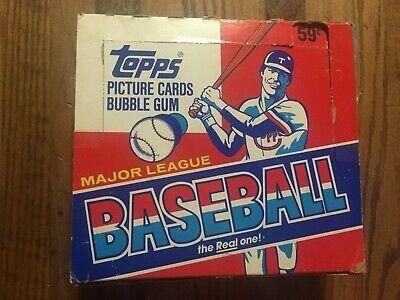1986 Topps Baseball Cello Card Box ~ 23 Sealed Packs