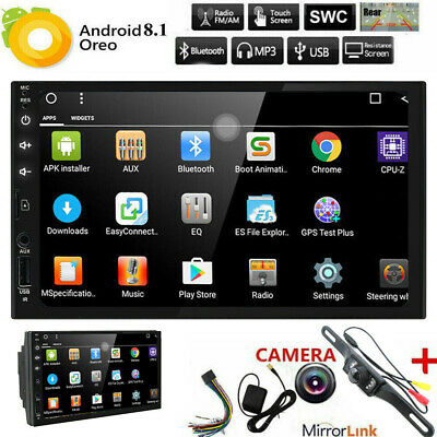"""Android 8.1 7""""Double 2 DIN Car Radio GPS Player WIFI BT Navi With Backup Camera~"""