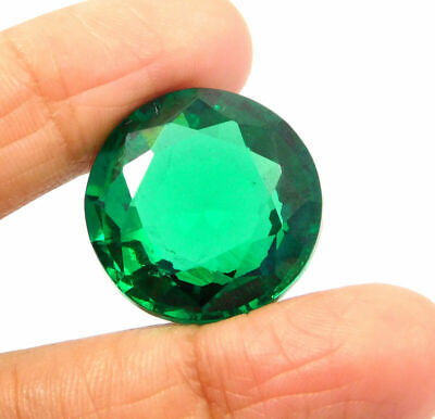 Treated Faceted Emerald Gemstone46CT 18mm  RM18341