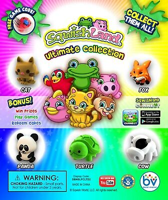 "250 Squish Land Animal Ultimate Collection 1"" inch Vending Machine Capsules Toy"