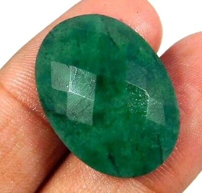 Dyed Faceted Beryl Gemstone 17 ct 22x16mm AQ1005