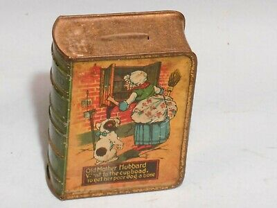 tin toy bank, Old Mother Hubbard USA  1900s