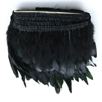Rooster Hackle Coque Feather Fringe Craft Trim Sewing Costume Millinery GP3Z
