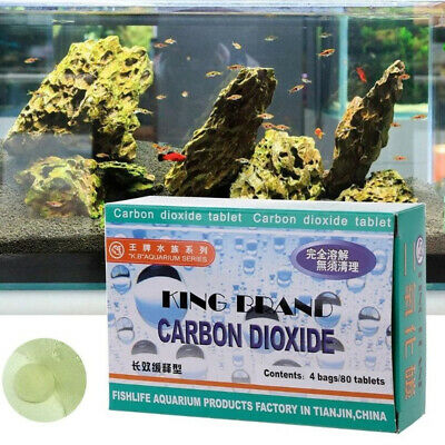 80pcs dioxyde de carbone de comprimé de CO2 d'aquarium pour des usines