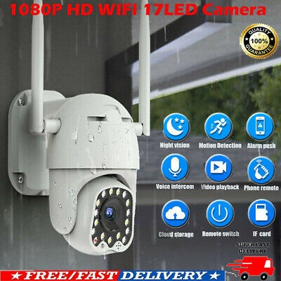 Waterproof 1080P Full HD IP Camera WiFi PTZ Security Wireless IR Cam Outdoor A++
