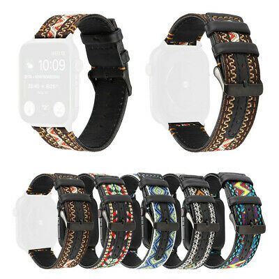 Ethnic-Style Leather Band Strap Replacement For Apple Watch Series 4 42/44mm HOT