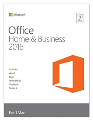 GENUINE RETAIL - Microsoft Office Home and Business 2016 (Apple MacOS)