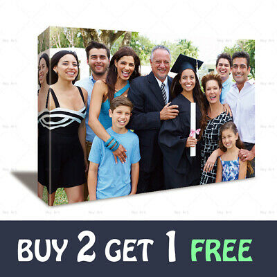Personalised Photo on Canvas Print Framed Custom Family Painting Ready To Hang