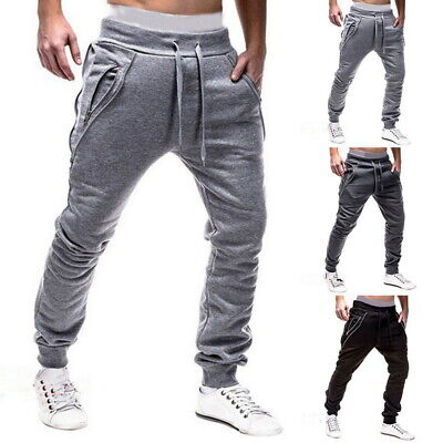 Men's Elastic Joggers Running Pants Comfortable Casual Trousers with Pockets 03