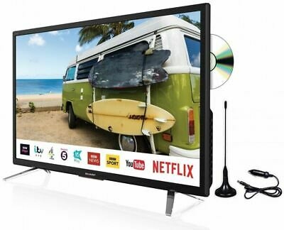 "Sharp 24"" Smart LED TV DVD Caravan Truck Freeview Play Satellite Saorview PVR"