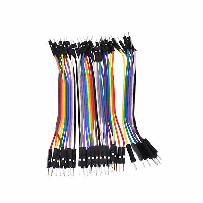 2x 40PCS 10cm 2.54MM male to male 1P-1P Dupont wire jumpercables DIY NEW