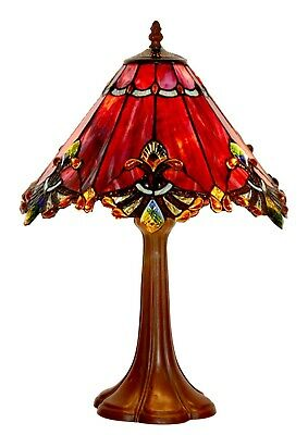 48cm Height Green Jewel Carousel Stained glass Tiffany Bedside Table Lamp