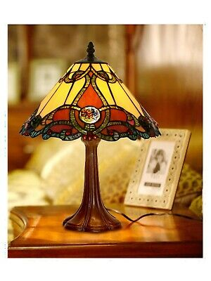 48cm Height Baroque Style Stained glass Tiffany Bedside Table Lamp