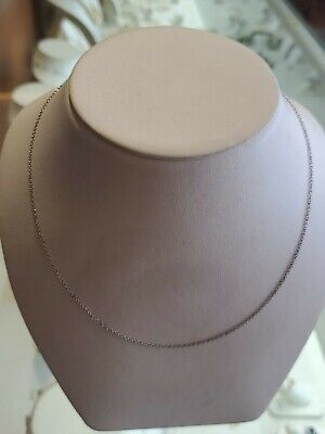 Tiffany & Co. Sterling Silver Paloma Picasso 1mm Thin 18' Inch Chain Necklace