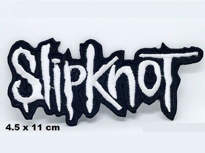 Slipknot Name logo Metal Music Red Embroidered Iron on Sew on Patch #645R