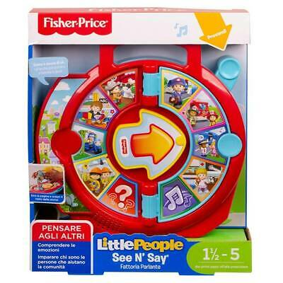 Granja Parlante Interactiva See ' N Say Little People Fisher Price FXJ70 ( Ita )