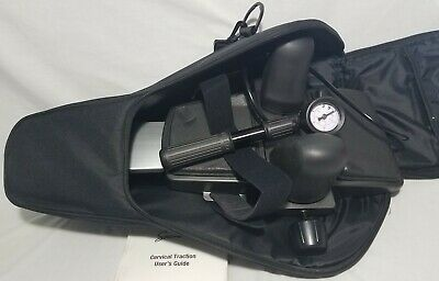 Saunders Cervical Neck Traction Device With Carrying Case Excellent Condition hE