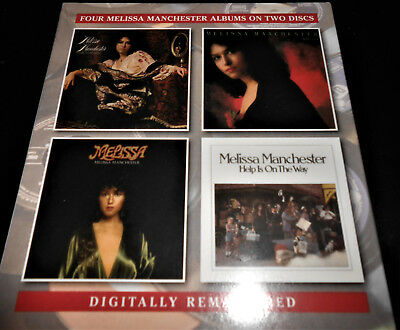 MELISSA MANCHESTER 4 Albums on 2 CD SET Bright Eyes Melissa Home To Myself Help