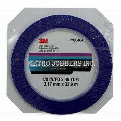 "3m 06404 Scotch Plastic Tape 471, Blue, 1/8"" X 36 Yd. 6404"