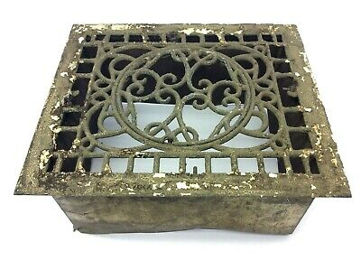 Antique Iron Sheet Metal Decorative Architectural Hardware Floor Grate Wall Vent