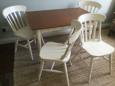 Shabby Chic - Extendable Dining Table, 4 Chairs & Chest of Drawers.  Worcester.