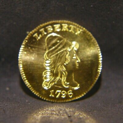 RARE 1796 Draped Bust Series, Gallery Mint Museum $2.50 Gold Coin No Stars