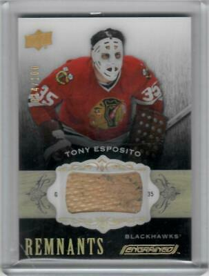 2018 2018-19 Upper Deck Engrained Tony Esposito Remnants Stick /100 Blackhawk Sl
