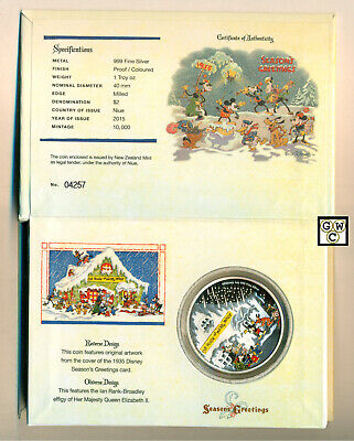 Niue Island 2015 $2 The House of the Mickey Mouse 1oz.999 Fine Silver Proof Coin