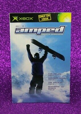 Instruction Booklet/Manual Only For Amped Xbox Original (No Game) 👑 Oz Seller